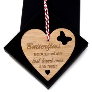Butterflies appear oak memorial remembrance bauble christmas tree decoration