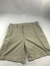 Champions Tour Men's Khaki Polyester Golf Shorts With Zip Pockets Size 36