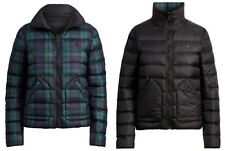Women's Ralph Lauren Polo Blackwatch Plaid Reversible Quilted Down Jacket New