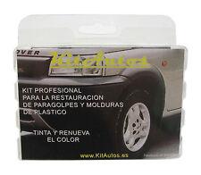 KIT RESTAURADOR  DE PARAGOLPES Y MOLDURAS DE PLASTICO COLOR NEGRO