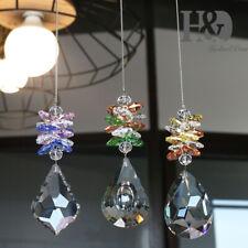 3pcs Glass Crystal Prism Rainbow Maker Chakra Hanging Suncatcher Window Pendant