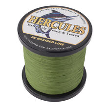 Hercules PE 50LB Test Worm Army Green 4 Strands Braid Fishing Line 1000M 1094Yds