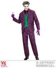 Mens Male Adult Evil Joker Halloween Fancy Dress Costume Outfit S