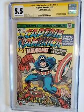 Captain America 193 1976 CGC 5.5 SS Signed Stan Lee on 12/10/17 Combine Shipping