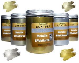 Effektfarbe 100ml Gold Silber Lack Metallic Bastelfarbe Acryl Antik Viva Shabby
