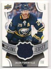 Jason Pominville 18-19 Upper Deck 1 UD Game Jersey Game Used Jersey