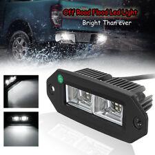 40W Flush Mount LED Work Light Bar Pods Flood Fog Lamp For Off-Road Pickup