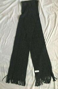 S1 New CALVIN KLEIN Gray Dress Scarf MEN'S One Size 8X76in