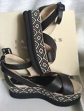 Women's elegant sandals PALOMITAS size 40 black color, wedge heel Sandali Donna