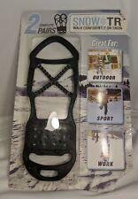 1 Pair Snow Trax Men's  Fits 8-12 Snow Shoe Converter Walk On Snow & Ice