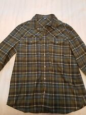 Ibex mens large taos flannel. Green and Blue. Excellent Condition.