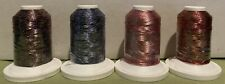 ROBISON-ANTON SPARKLE SWIRL 500 YARDS EMBROIDERY THREAD 4 SPOOLS *PARTIAL USE*