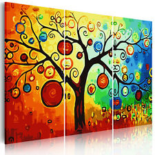Unframed Abstract Canvas Prints Decor Wall Art Paintings Picture Colorful Tree