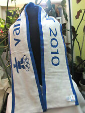 """Vancouver 2010 CANADA  Hudson's Bay Olympic Scarf  BLUE MOUNTAINS  HBC 60""""  NWT"""