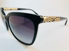 New Authentic Bvlgari sunglasses 8173 B 501/8G black gold crystals w case