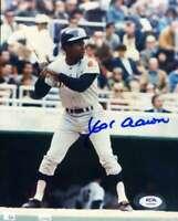 Hank Aaron PSA DNA Coa Hand Signed 8x10 Photo Autograph
