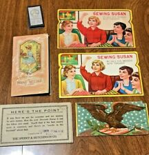 Vintage Lot Sewing Susan Needle Book Booklet Needles Old Sewing Kit Needles
