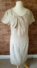 Ladies Country Casuals 100% Linen Natural/Cream Dress UK 14 NEW Wedding Occasion