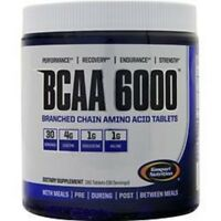 Gaspari Nutrition BCAA 6000 180 Tabs Branch Chain Amino Acids Repair Recovery