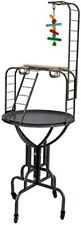 """67"""" Elegant Metal Play Top Long Neck ladder Toy Hook Tray Parrot Bird Stand 672"""