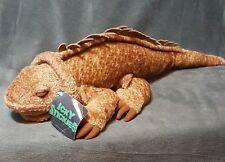 "Fao Schwarz Fifth Avenue Brown Iguana Lizard Reptile 21"" Plush Stuffed"