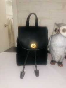 Coach Vintage 9960 Black Leather Mini Backpack