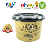 Gold Label Dubbin Leather Waterproofs Softens Preserves Boots Tacks Shoes 200 gm