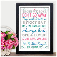 PERSONALISED Wedding Sign Missing Loved Ones Memorial Memory Sign Angels Family