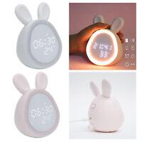 Rabbit Desk Kids Digitaler Wecker Wochenendmodus Wake Up Nightlight