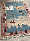 """Beautiful Handmade Wool Rug From Persia 59.5 by 39.5"""" From Pet/smoke Free Home"""