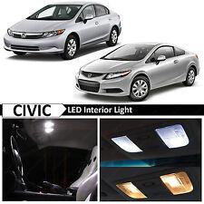 2006-2012 Honda Civic Sedan Coupe 8x White Interior LED Light Package Kit