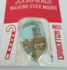 WALKING STICK BADGE / MOUNT / STOCKNAGEL SAMPSONS GODSHILL