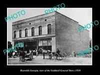 OLD LARGE HISTORIC PHOTO OF REYNOLDS GEORGIA, VIEW OF THE GODDARD STORE c1910