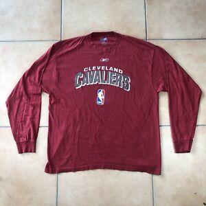 Men's Reebok NBA CLEVELAND CAVALIERS Long Sleeve T-Shirt Sz XL