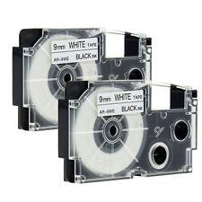 2 Stück Kompatibel für Casio EZ-Label Printer XR-9WE1 Schriftband Schwarz/Wei�Ÿ