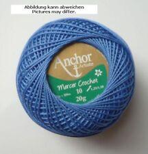 Hilo de Ganchillo Anchor Mercer 20G Pcs. 10 Azul Paloma Fb.131 Gp 242,50€/ Kg