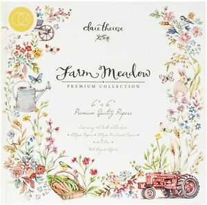 """Craft Consortium Double-Sided Paper Pad 6""""X6"""" 40/Pkg-Farm Meadow By Clare Theres"""