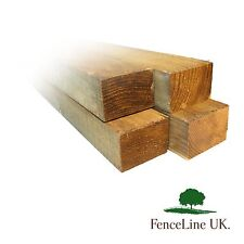 Pack of 4 2.4m (8ft) 3x2 (75mmx50mm) Treated Wooden Timber Fence Rails / Posts