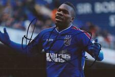 IPSWICH: AARON McLEAN SIGNED 6x4 ACTION PHOTO+COA