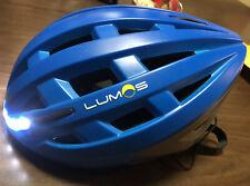 Lumos Kickstart Helmet with Integrated Stop and Turn Signal LED Lights Blue