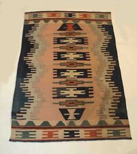 Vintage Traditional Hand Woven Multi Color Wool 105x150 Cm Area Rug DN-303