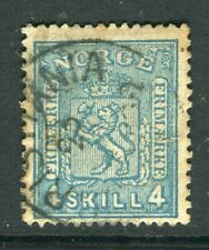 NORWAY; 1867 early classic Skilling issue used 4sk. value, Postmark