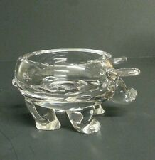 Sparkly RARE PIG CRYSTAL ART GLASS ASHTRAY FIGURINE. ONLY ONE LIKE IT ON EBAY!!