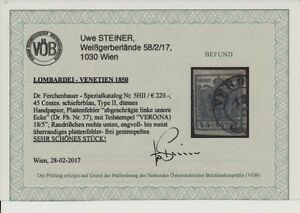 L-V 1850 45C, SCHIEFERBLAU! HP, Type II. P.F! Dr.Ferch:220,-€! VERONA VÖB!