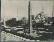 Sébah. Turquie, Mosquée Ahmed et l'Hippodrome  Vintage print.  Tirage arg