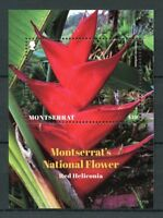 Montserrat 2017 MNH Heliconias Red Heliconia 1v S/S Plants Flowers Nature Stamps