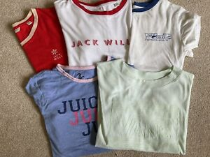 Bundle Of 5 Jack Wills, Juicy Couture, Vans Womens T Shirts Size Small