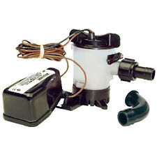 500 GPH Electric Submersible Bilge Pump with Automatic Float Switch