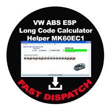 VW ABS ESP Long Code Calculator Helper MK60EC1