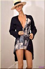 Veste noire style redingotte LES FEES DU VENT  taille 38 UK 10  0317105